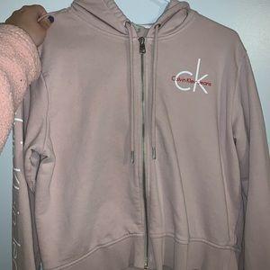 Calvin Klein cropped hoodie!